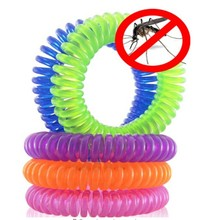 10PCs Natural Plant Oils Phone Strap Elastic Mosquito Repellent Coil Pest Control Outdoor Kids Bracelet Summer Insect Protection(China)