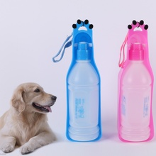 Newest 2017 New Pets Dog Travel Portable Water Dispenser Feeder Drinking Fountain Bowl bottle(China)