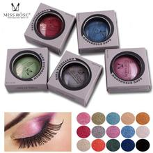 Miss Rose Single Color Baked Eyeshadow Palette Eyes Makeup Shimmer Metallic Baked Eye shadow Waterproof Cosmetics Maquiagem C3(China)