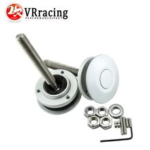 VR RACING - Universal Push Button Billet Hood Pins Lock Clip Kit Car Quick Latch New Engine Bonnets Silver VR-HP31S(China)