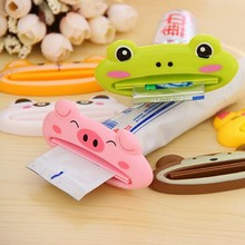 1 pcs multicolor Cute Animal Multifunction portable Plastic Toothpaste Squeezer Bath Toothbrush Holder bathroom sets home items(China)