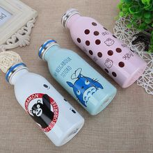 Creative Kawaii Cartoon Novelty Totoro Hello Kitty Bear Stainless Steel Cup Kids Hot Water Bottle Birthday Gift Vacuum Flasks EM