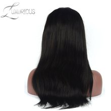 Luxurious 180% Density Very Thick Lace Front Human Hair Wigs 8-24inch Straight Brazilian Virgin Hair With Natural Hairline(China)