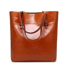 Luxury Genuine Leather Designer Handbags for Women Famous Brands Fashion Ladies Tote Bags for Work Large Black Shoulder Bag
