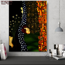 DPARTISAN Gustav KLIMT giclee print CANVAS WALL ART decor poster oil painting print on canvas Wall pciture beautiful paintings