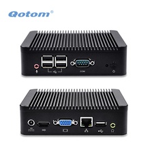 QOTOM Mini PC Q100N with Celeron 1037u processor dual core 1.8Ghz, Barebone Mini PC with Serial Port
