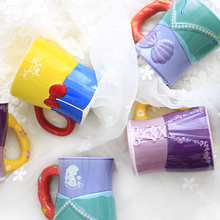 New Arrival Original The Little Mermaid Snow White Tangled Aishah Cartoon Porcelain Coffee Milk Golden Mugs Cup Gift