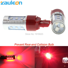 2pcs T20 7443 W21/5W Red LED Flashing Strobe Blinking Rear Alert Safety Brake Tail Stop Car Lights car-styling(China)