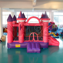 YARD Pink Funny Inflatable Jumping Castles For Kid Fashion House With Inflatable Silde