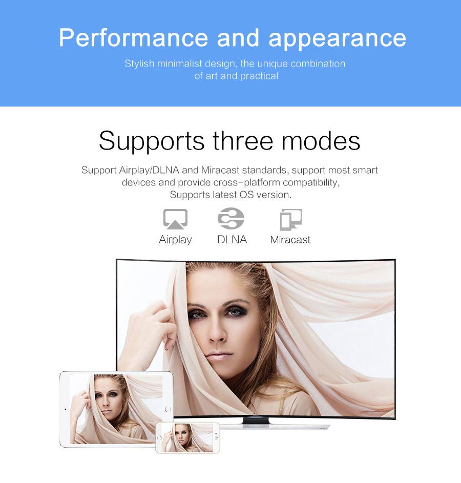 عرض لاسلكي من الهواتف الذكية الى التلفاز Mirascreen MX جديد 12