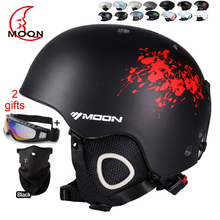 MOON Skiing Helmet Autumn Winter Adult and Children Snowboard Skateboard Skiing Equipment Snow Sports Safty Ski Helmets(China)