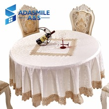 Adasmile Rural Style Lace Embroidered Elegant Round Table Cloth Tablecloth Table Cover Overlays For Banqute Wedding Party(China)