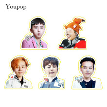 Youpop KPOP BIGBANG GD G-Dragon Album PVC Stickers For Luggage Cup Notebook Laptop Car Fridge DIY Stickers TZ031