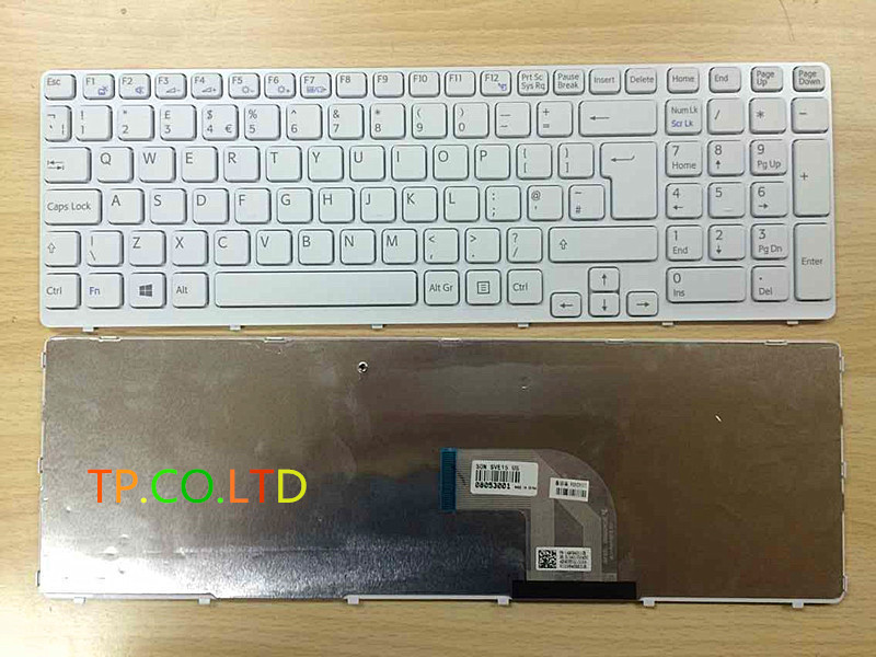 White --Replacement UK Keyboard for Sony Vaio SVE1511, SVE151C11M,SVE151G11M keyboard, SVE151G13M 149094311GB keyboard<br><br>Aliexpress