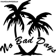 HANDANWEIRAN 30*30CM Car-Styling Funny Summer Style No Bad Days Coconut Tree Car Window Stickers Auto Accessories DIY Decals(China)