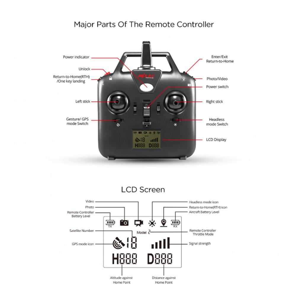 MJX B2W Bugs Mini Drone With Camera 1080P HD 5GPS WIFI RC Quadrupter Brushless RC Quadcopter Helicopter Aircraft Remote Control