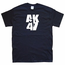 2017 Short Sleeve Cotton Man Clothing Tops T-Shirt Homme My Life It's Ak 47 Russian Military Topics T Shirt Sale