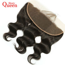 Queen Story Hair Brazilian Body Wave Remy Hair 13*4 Full Lace Frontal 100% Human Hair Ear To Ear Lace Frontal With Baby Hair