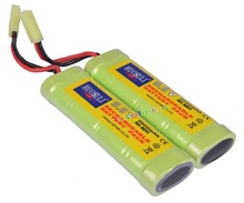 2pcs Super Power NiMH 9.6V Rechargeable Battery 2800mAh Pack For RC Tank Airsoft
