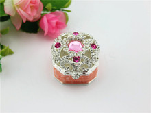 Wedding Favor Small Trinket Box with Crystal Ring Holder Box Birthday Gift(China)
