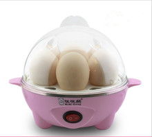 Free shipping wholesale creative fashion and convenience of two compartments pink/ blue electric egg boiler