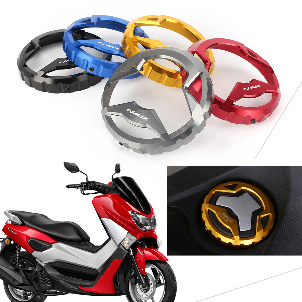 GZYF CNC Motorcycle Seat Lock Cover Cap Ignition Switch Cover Fits YAMAHA NMAX 155 2015-2016 Titanium