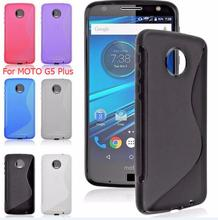 For Motorola Moto G5 Plus Grip S line Wave Soft TPU Gel Jelly Clear skin Cell Phone back cover case Anti Fall cases Coque