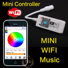 new 2016 Original 16Million colors Wifi 3channels RGB led controller smartphone control music and timer mode wifi led controller