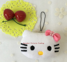 1X Kawaii NEW 5CM Little Hello Kitty Stuffed Plush Toy Doll ;  String Pendant Gift Toy, Wedding Bouquet TOY