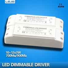 Dimmable LED Driver dimming LED power supply 700ma 900ma 10W 11W 12W led lighting transformer downlight lamp spotlight driver(China)