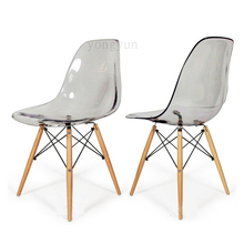 Acrylic Transparent Plastic Chair Cafe Leisure Modern Wood Colored Restaurant Moderne Stoel dining chair