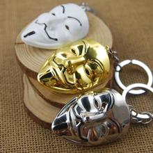[V for Vendetta] Pop Film Mask Mini Metal Model Keychain Movie Accessories Men&Women Fashion Jewels Key Ring Wholesale