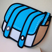 Women 3D Stereoscopic Handbag Messenger Bag Anime Bags Comics Casual Oblique Satchel Crossbody Inclined Shoulder Bag Dropship(China)