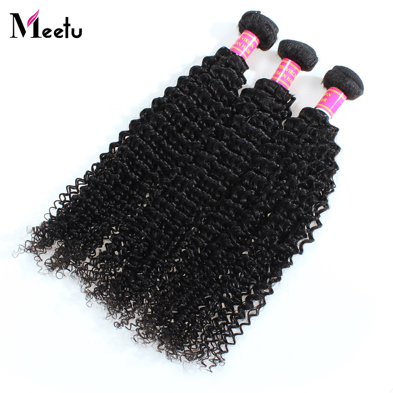 8A Meetu Hair Peruvian Kinky Curly Hair Extensions 3Pcs Lot Peruvain Afro Kinky Curly Virgin Human Hair Weave Natural Black<br><br>Aliexpress