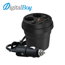 Digitalboy Dual USB Charger with 2 Socket Splitter Car Cigarette Lighter Charger Auto Power Adapter for iphone ipad GPS Car Dvr(China)