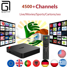 Europe Power IPTV T95N Android 6.0 Smart 4K TV Box with 4400+ channels Europe Germany UK Netheland Portuguess Pay TV Set Top Box(China)