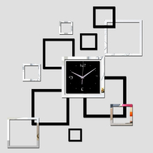 2017 new wall clock quartz watch diy clocks 3d stickers Modern sticker living room reloj de pared home decor saat horloge murale
