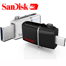 Genuine SanDisk Ultra 32GB Dual OTG 130mb/s USB 3.0 Flash Drive External Storage USB Memory Stick Pen Drive Pendrive 32GB