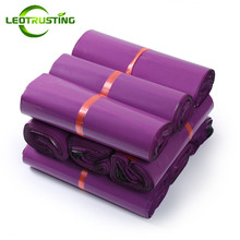 Leotrusting Purple Poly Mailing Express Bags Strong Adhesive Packaging Envelope Bag Mailer Plastic Garment Boxes Shipping Bag