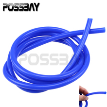 POSSBAY Universal Blue/Red 2m Silicone Vacuum Tube Hose Silicon Tubing Tube Pipe Auto Car Accessories