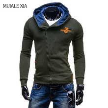 New High Quality sweatshirt Men Fashion Autumn&Winter supreme hoodie Casual Inclined Zipper Men Hoodies 3 Colors Size M-2XL(China)