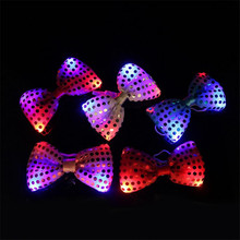 Fashion Party Club Decoration Dress up Glow Tie clothes accessories Wedding  bridegroom supplies 10pcs/lot Led Ties toy