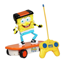 meibeile Sponge Bob Cute Cartoon Skateboard Children RC Carros Juguetes Remote Control Car for Kids Boys(China)