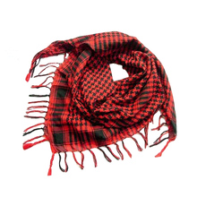 2017 Red Unisex Women Men Checkered Arab Grid Neck Keffiyeh Palestine Scarf Wrap 15Colors Wholesale 110*110 cm(China)