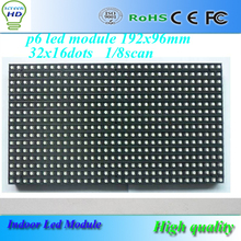 High quality led display 6mm pixel full color SMD led module indoor 1/8 scan 192x96mm 32X16 pixel dots 1RGB P6 led module(China)