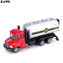 KAWO Kids Alloy 1:64 Scale Water Tanker Truck Emulation Model Car Toy Gift(China)