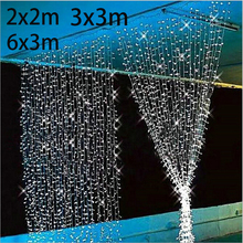 3x3/6x3m New Year Christmas Garlands LED Fairy String light Christmas fairy Light for garden party/Wedding/Curtain Decoration