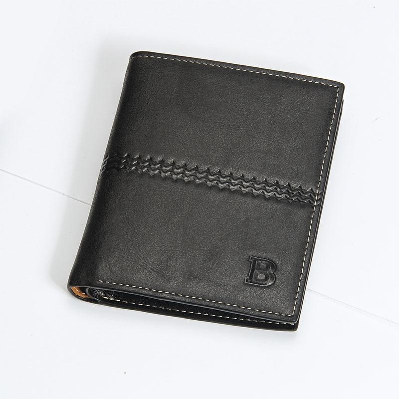 2016 High quality leather magic wallets fashion famous designer business purse pocket men short wallets money clip black brown<br><br>Aliexpress