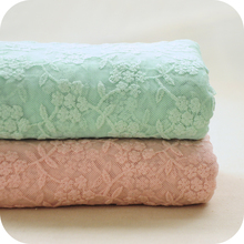 50x130cm green pink Net candy color Embroidery Lace Fabric Fabrics of DIY webbing clothes Cloth Materials