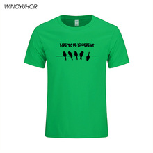 Be Different Unique Look Men's T-shirts Summer Cotton Fitness T Shirt Homme Funny Birds Print Streetwear Fashion Brand Clothing(China)